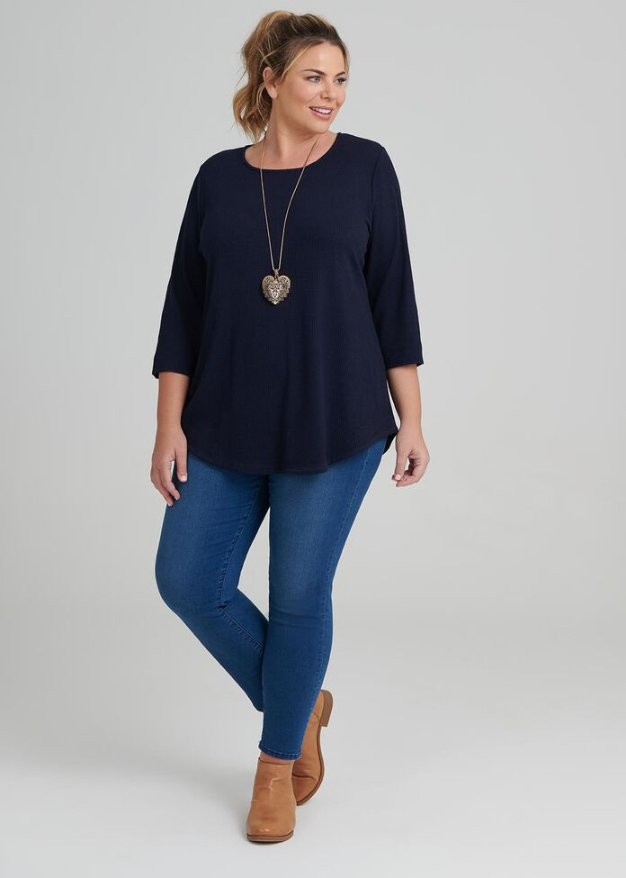 Staple Curved Hem Top, , hi-res