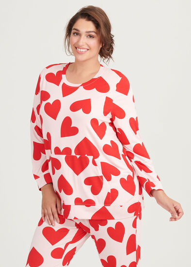 Bamboo Red Hearts Top