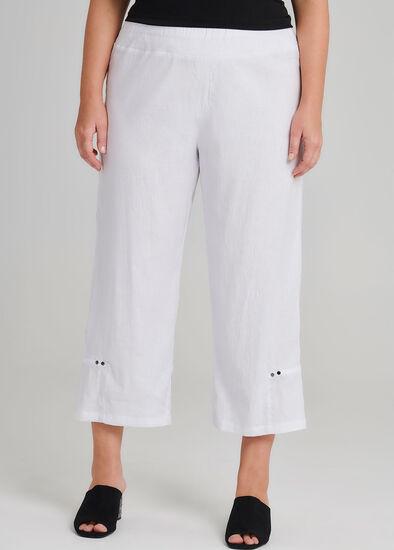 Linen Mirage Crop Pant
