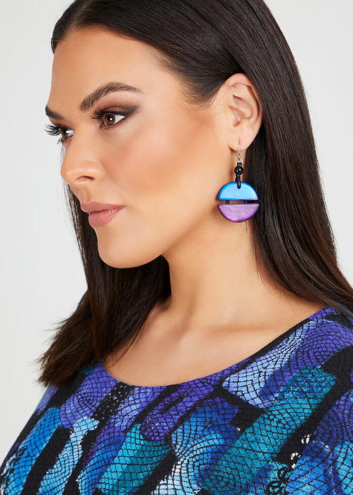 Two Tone Resin Earring, , hi-res
