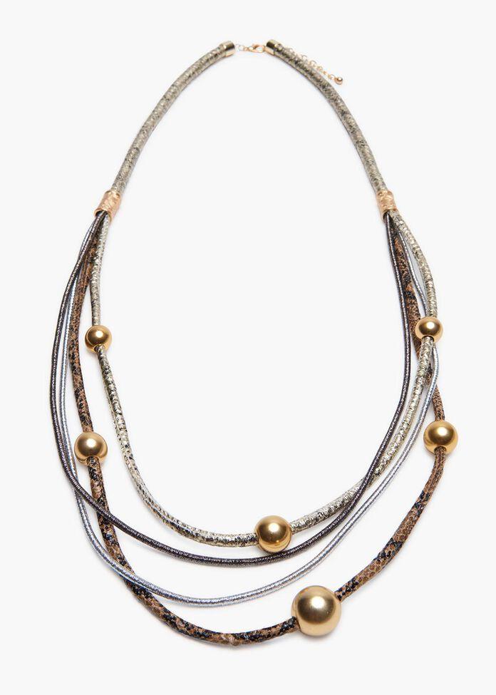 Layered Cobra Necklace, , hi-res