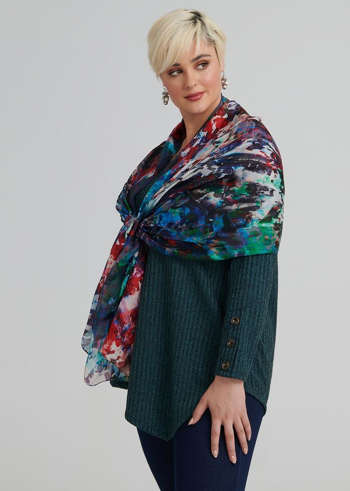 Forest Lake Silk Scarf, , hi-res