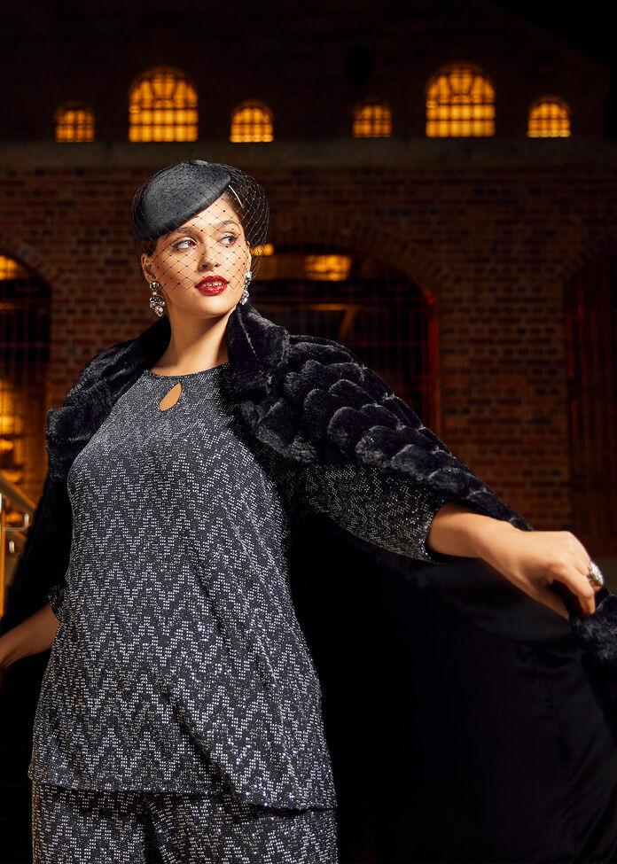 Violetta Lurex Knit Top, , hi-res