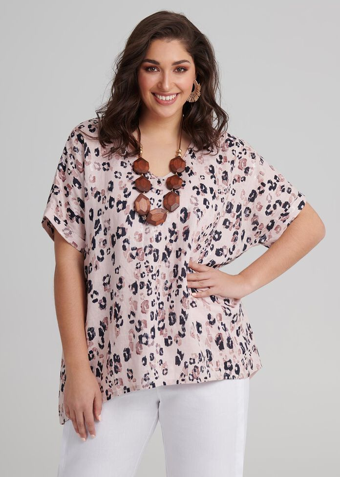 Linen Jamila Top, , hi-res