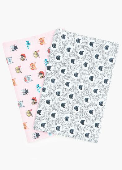 Set/2 Cat Tea Towel