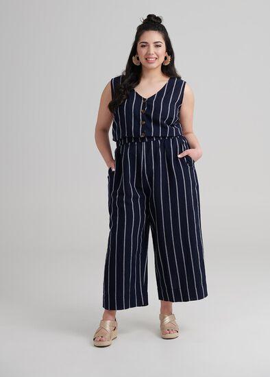 Petite Linen Jumpsuit