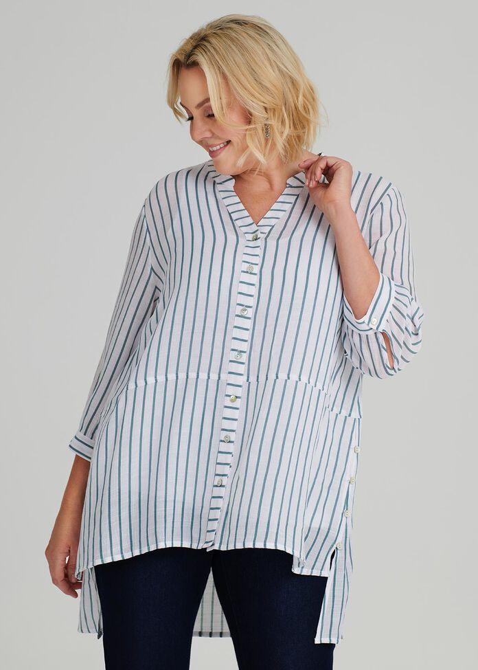 Resort Thin Stripe Shirt, , hi-res