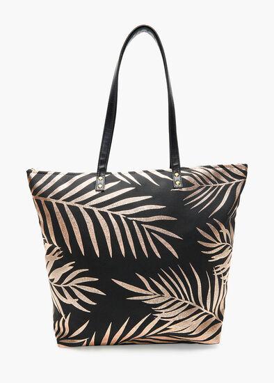 Foil Palm Tote Bag