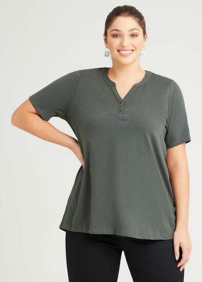 Organic Henley Neck T-shirt