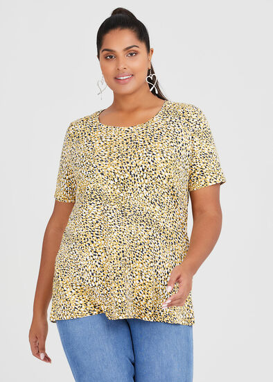Cotton Mix Mini Print Top