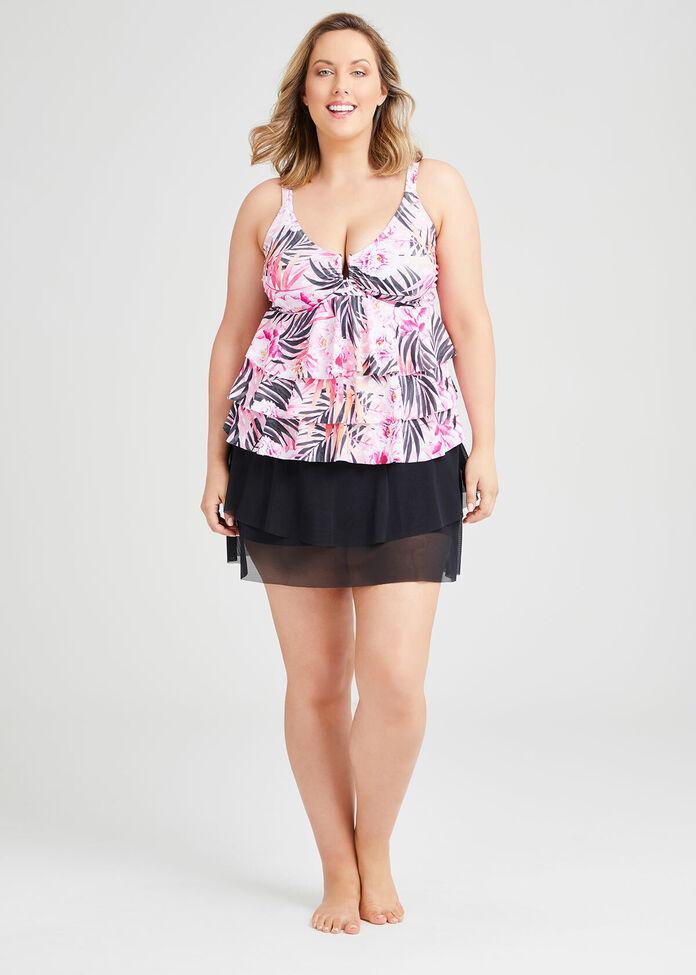 Layer Frill Mesh Skirt, , hi-res
