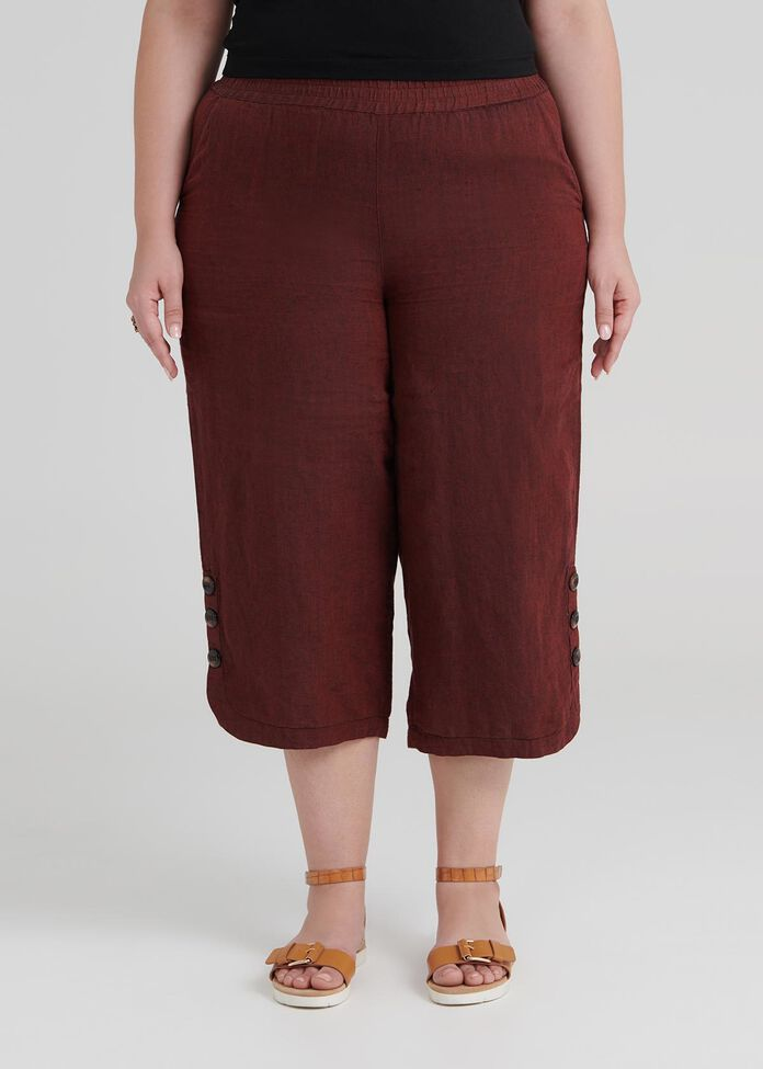 Gypsy Linen Crop Pant, , hi-res