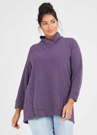Textured Ticking Zip Top