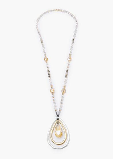 Teardrops Pearl Necklace
