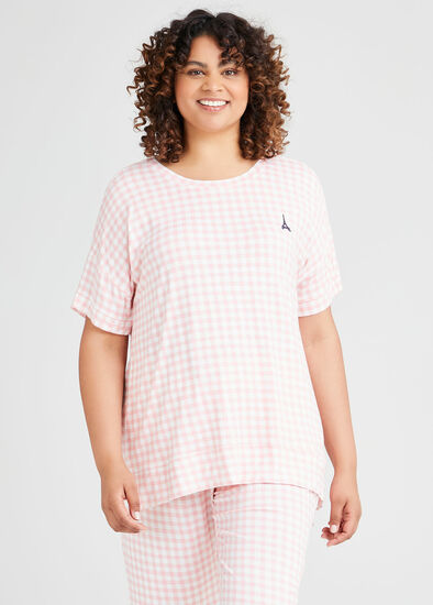 Bamboo Gingham Pyjama Top