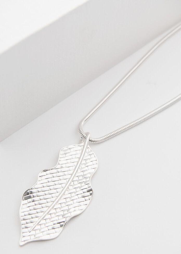 Flowing Leaf Necklace, , hi-res