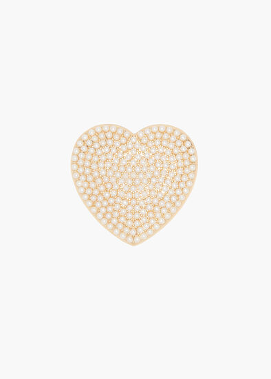 Pearly Heart Brooch