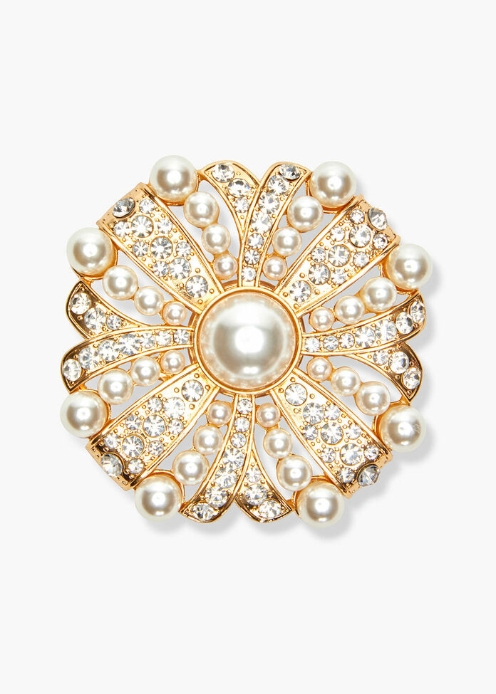 Pearl Bloom Brooch, , hi-res