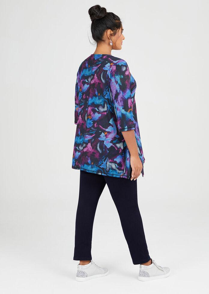 Cosy Knit Watercolour Top, , hi-res