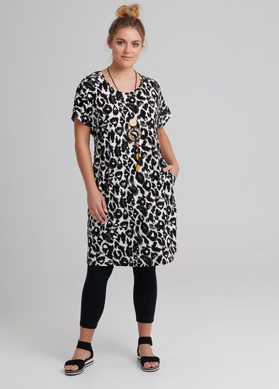 Animal Shift Dress