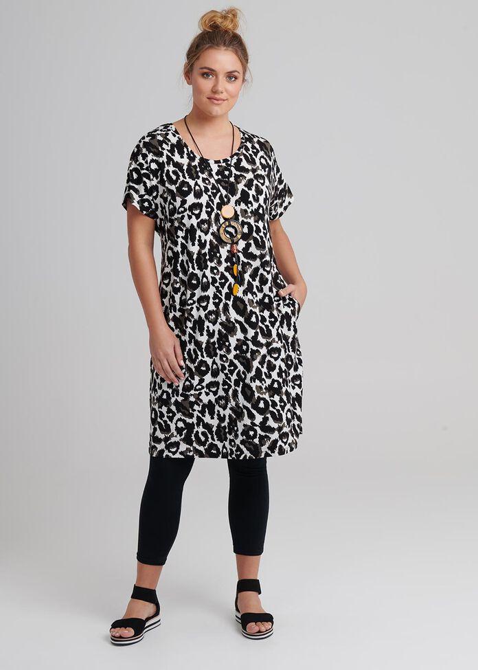 Animal Shift Dress, , hi-res