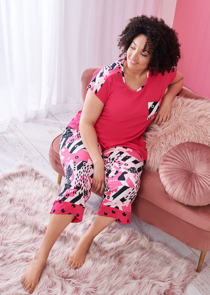 Cotton Cat Crop Pj Pant, , hi-res