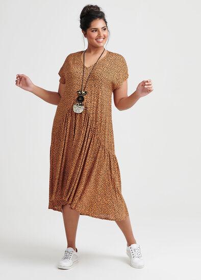 Natural Mini Animal Dress