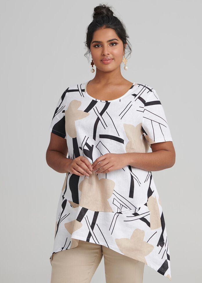 Linen Maya Tunic, , hi-res