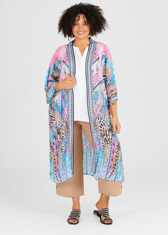 The Fabulous Viscose Kimono, , hi-res
