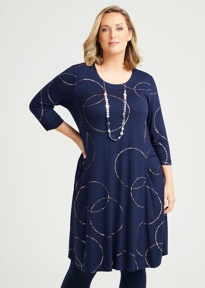Eclipse Bamboo Foil Dress, , hi-res