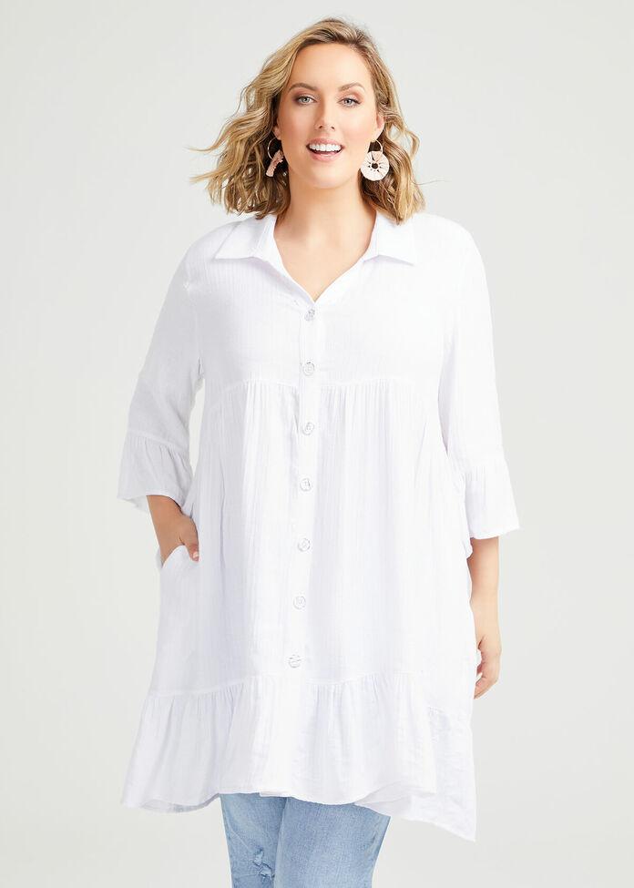 Natural Frill Shirt, , hi-res