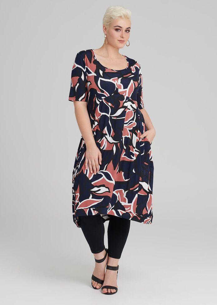 Medina Print Dress, , hi-res