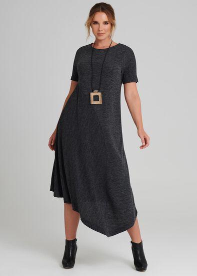 Pleated Knit Dress