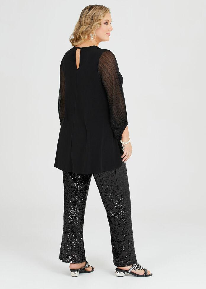 Black Jack Shimmer Sleeve Top, , hi-res