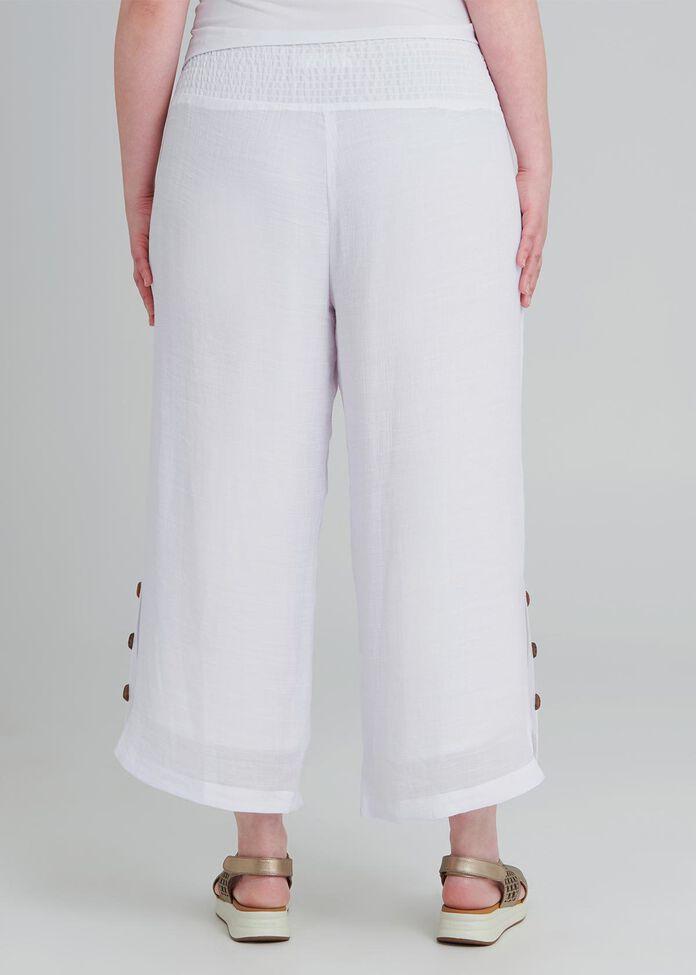 Tall Button Crop Pant, , hi-res