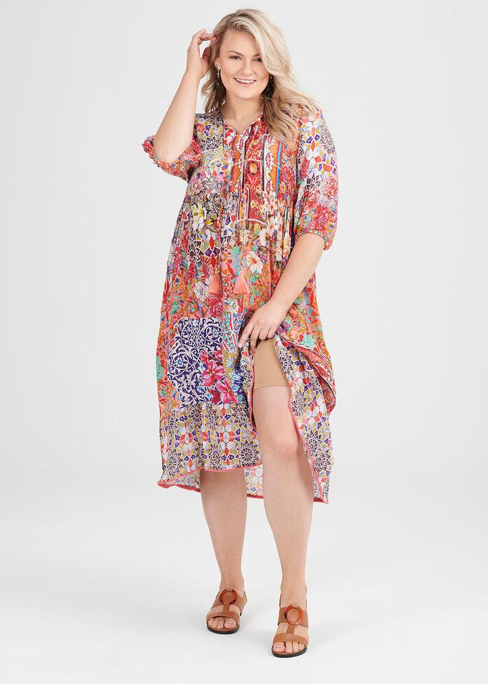 Natural Bohemian Dress, , hi-res