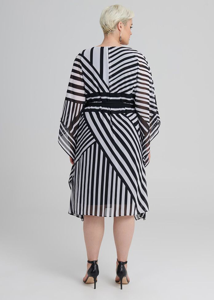 Oaks Stripe Kaftan, , hi-res