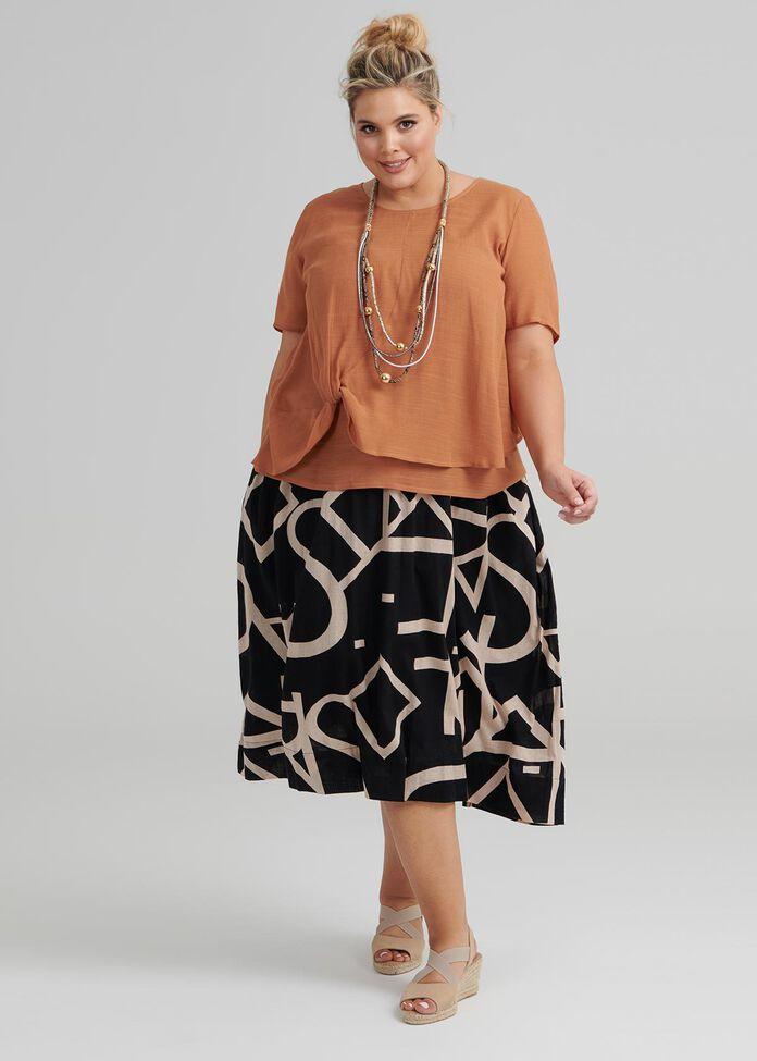 Script Cotton Skirt, , hi-res