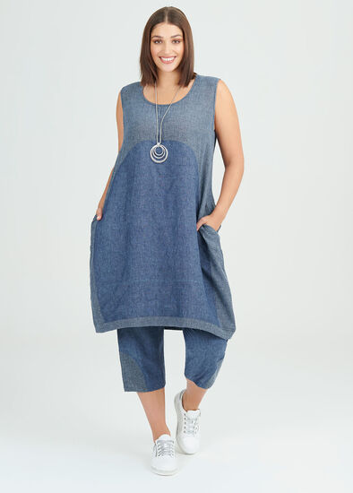 Simply Blues Linen Dress