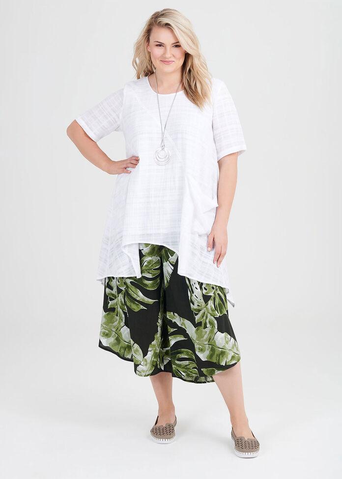 Cotton Textured Gauze Tunic, , hi-res