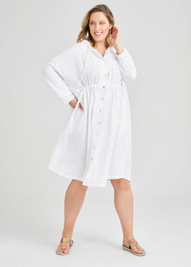 Cotton Hoodie Cover Up