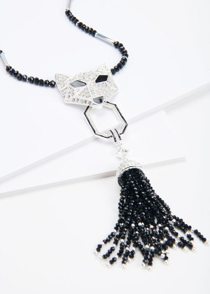 Crystal Fox Necklace, , hi-res