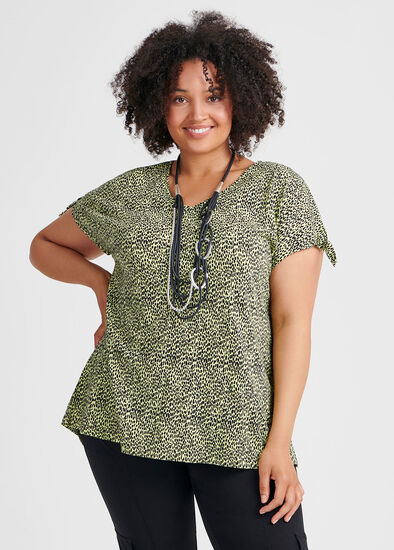 Linen Knit Cheetah Top