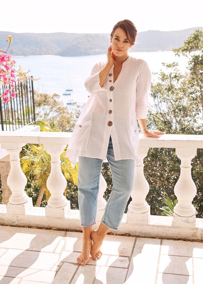 Gauze Linen Shirt, , hi-res