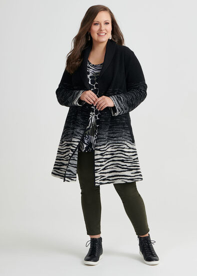 Zebra Boiled Wool Coat