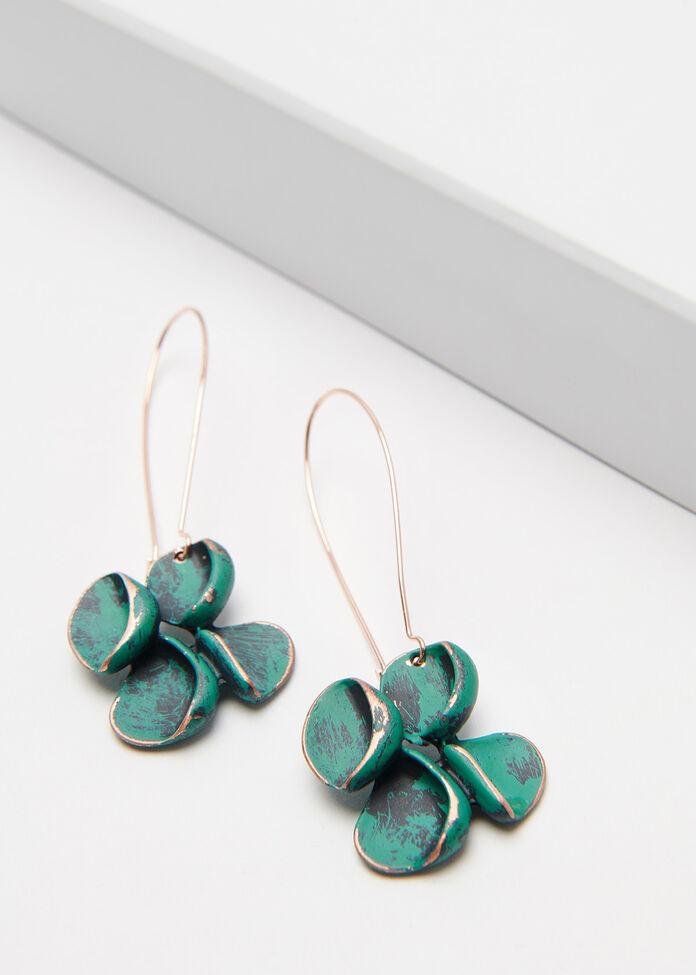 Copper Bloom Earrings, , hi-res