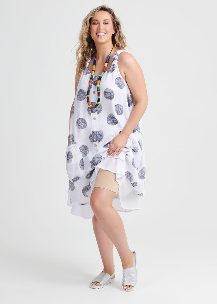 Textured Spot Dress, , hi-res