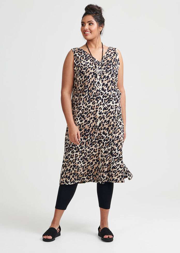 Cotton Animal Dress, , hi-res