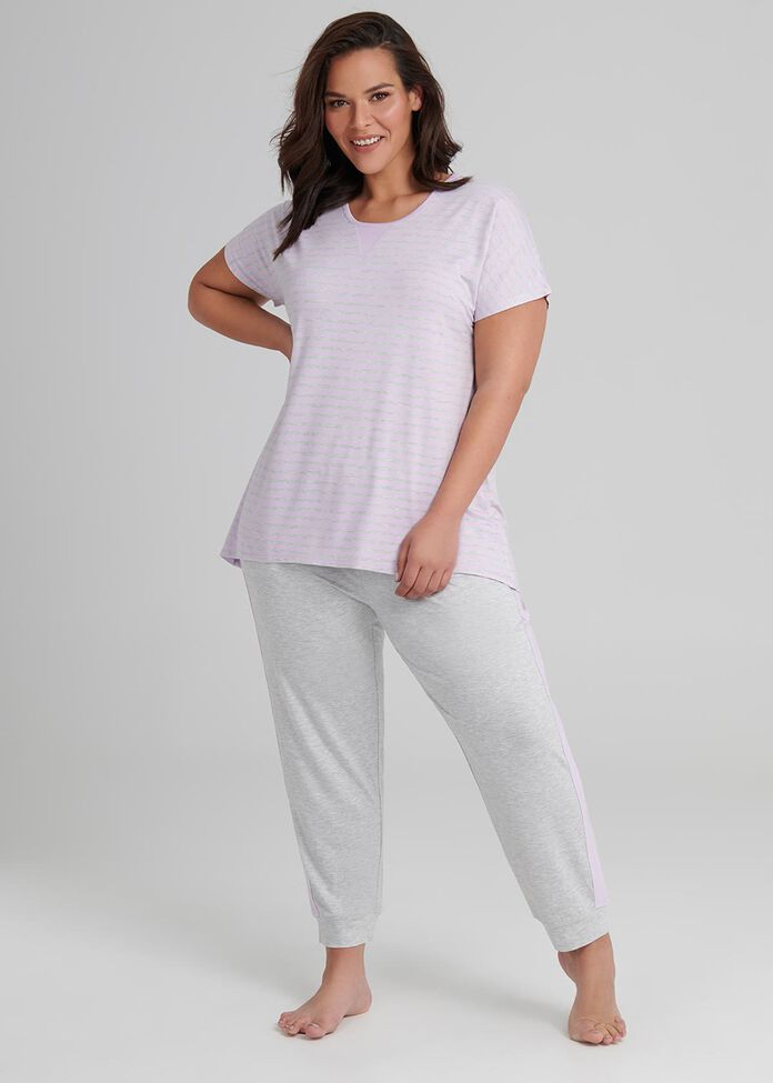 Lounge Bamboo Stripe Top, , hi-res
