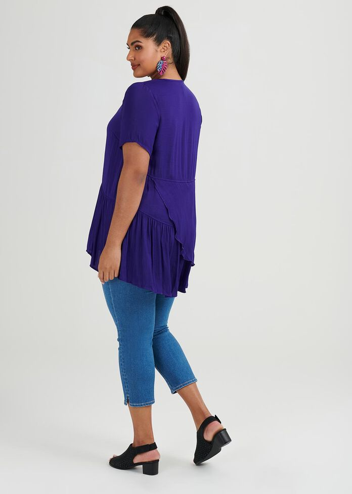 Ready To Ruffle Luxe Tunic, , hi-res